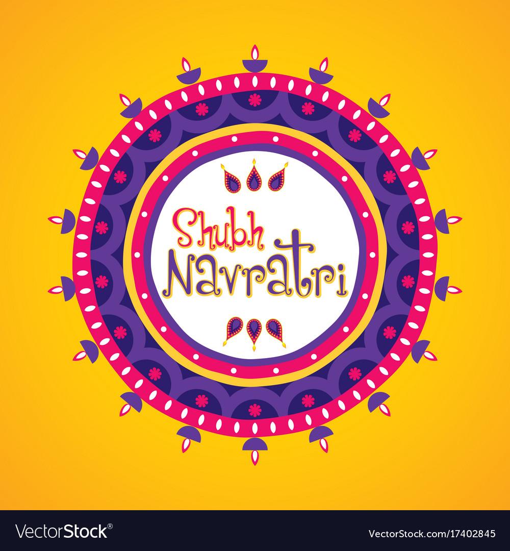 Happy Navratri Greeting Design Royalty Free Vector Image