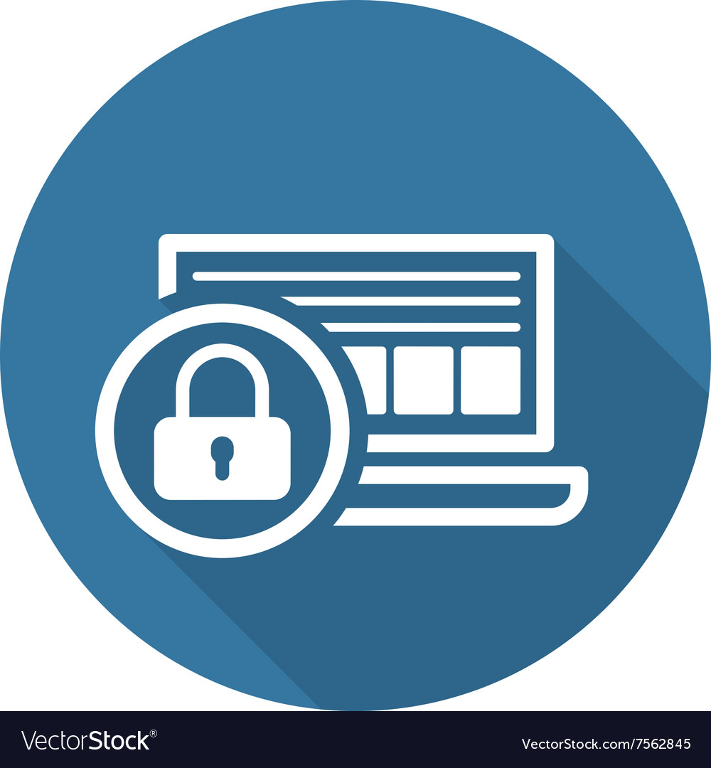multiple culori magazin online oferta specifica Network Security Icon Flat Design Royalty Free Vector Image
