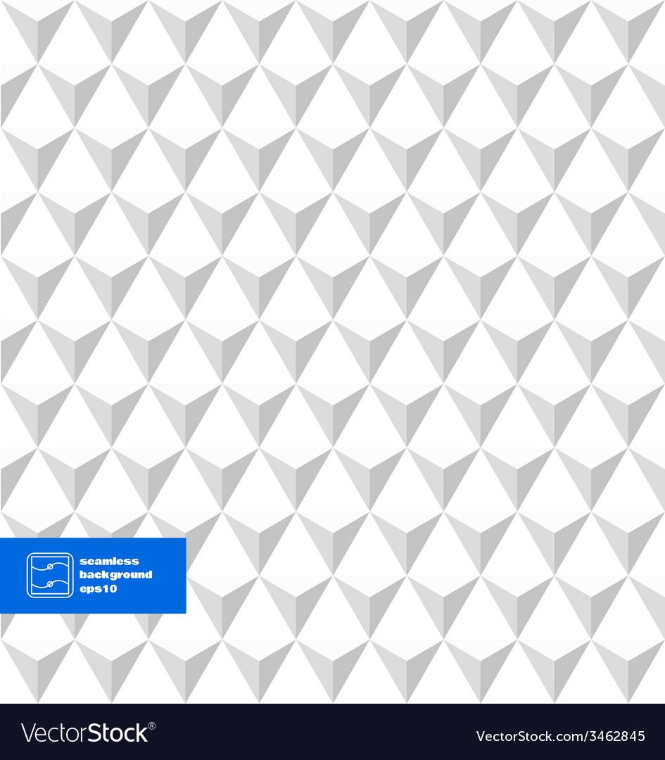 White Seamless Triangles Background