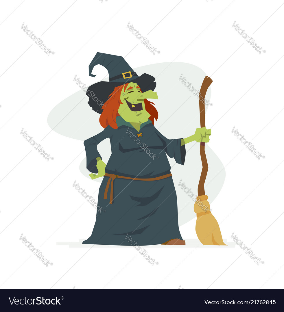 Witch - modern cartoon people characters isolated