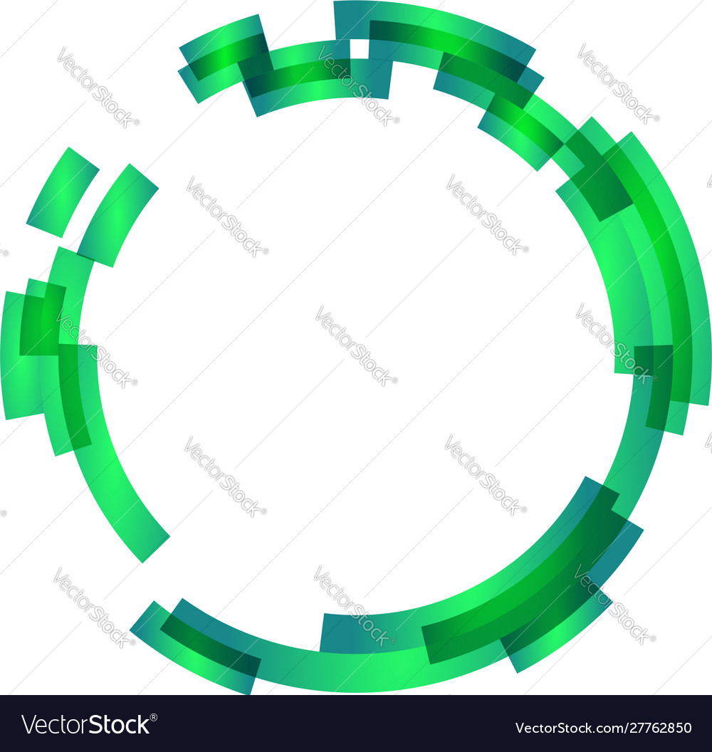 Abstract design element may be used as frame or