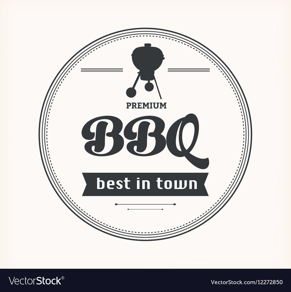 Barbeque vintage sign on white background