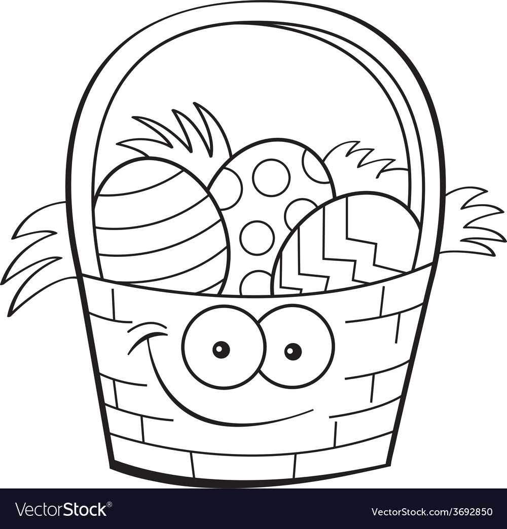 Cartoon Easter basket