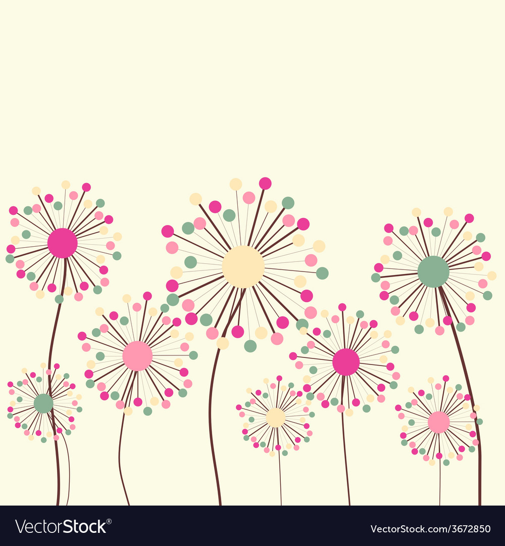 Flower Background In Pastel Colors Royalty Free Vector Image