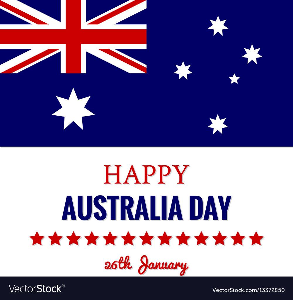 Happy australia day 26 january festive design