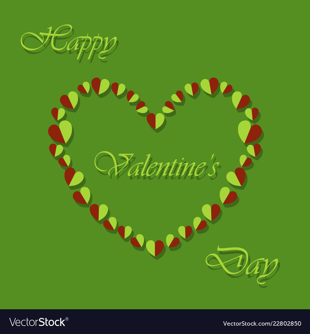 Happy valentines day greeting card beautiful love vector image m4hsunfo