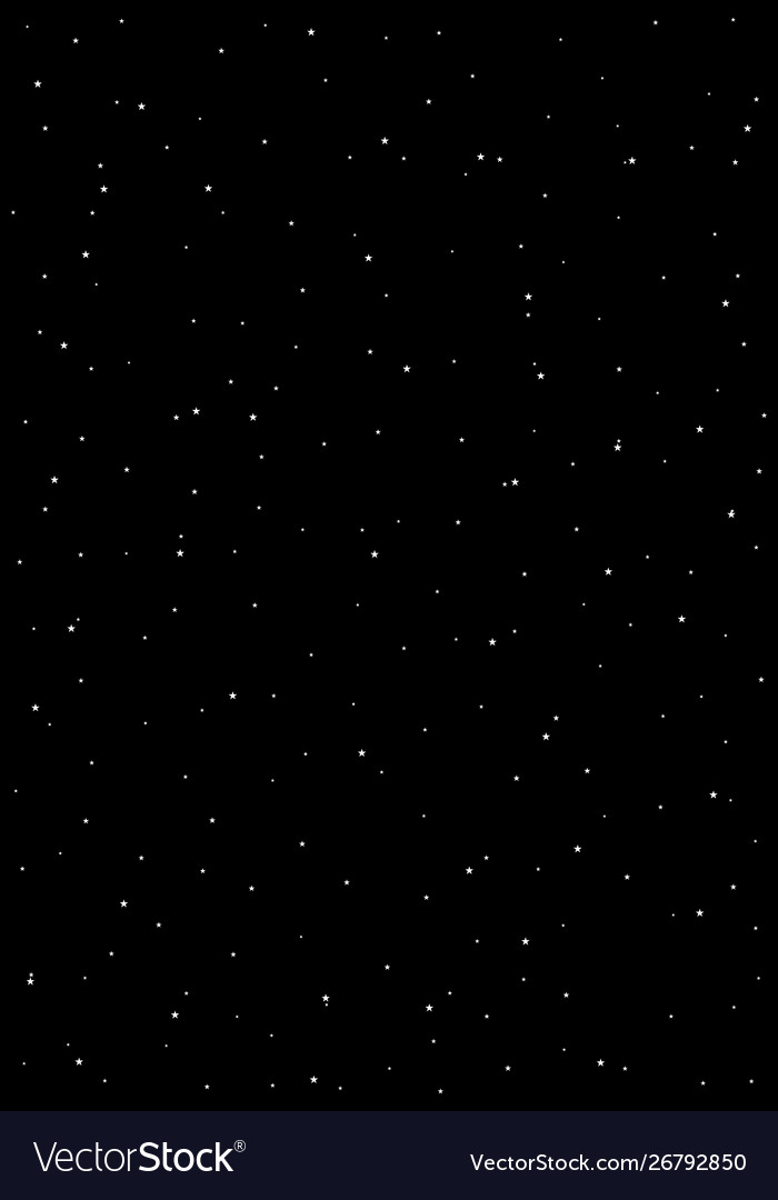 Huge clusters stars in dark sky black