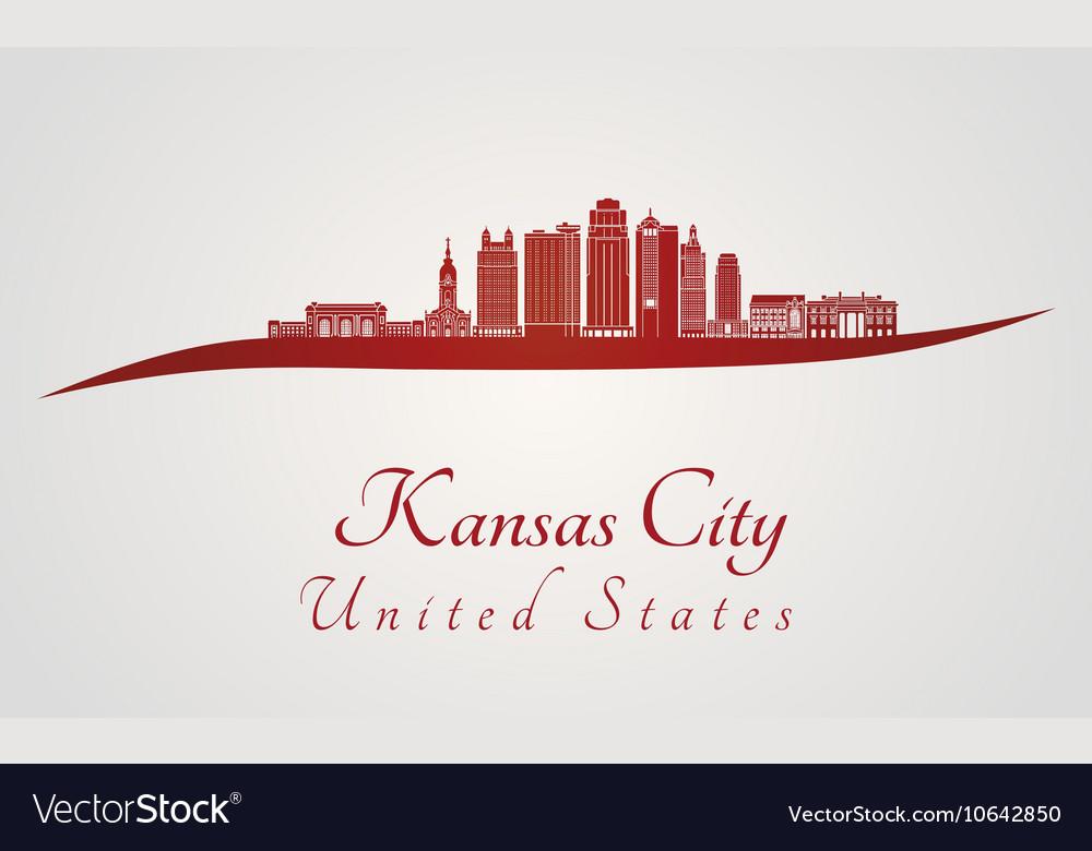 Kansas City V2 skyline in red