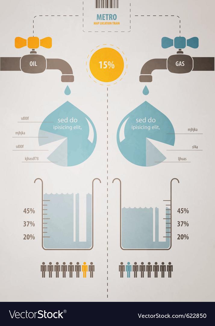 Retro infographics account scheme with a liquid vector image