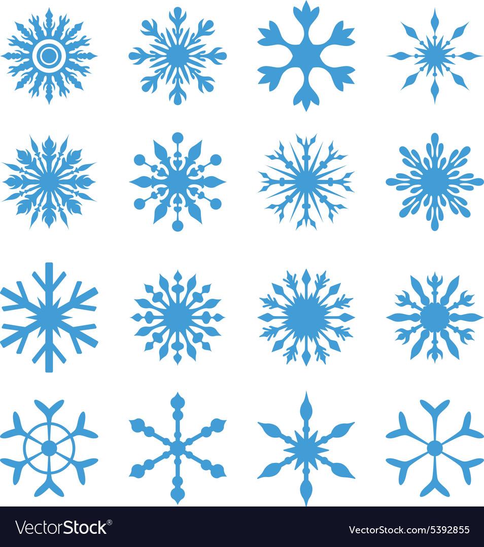 Elegant snowflakes set