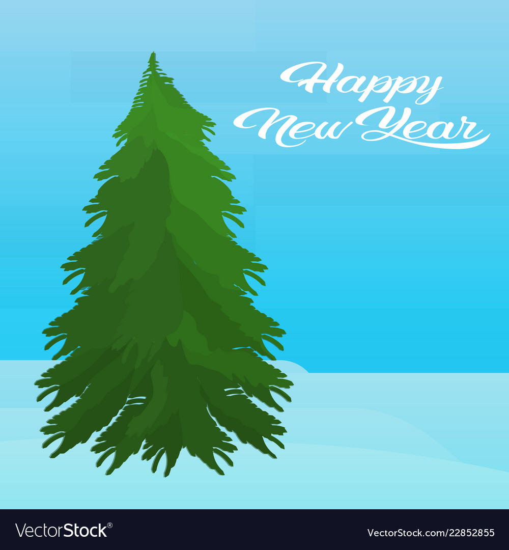 Fir tree happy new year merry christmas concept