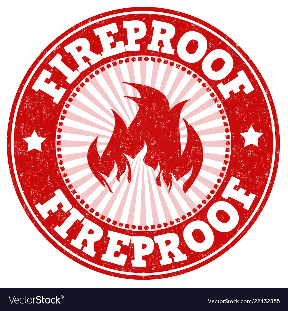 Fireproof sign or stamp