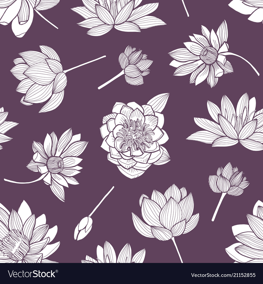 Floral seamless pattern with elegant blooming vector image