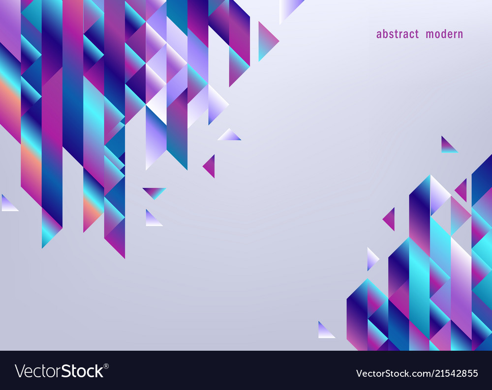 Gradient background with colorful geometric shapes