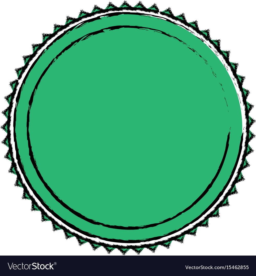 Green label badge decoration blank emblem vector image