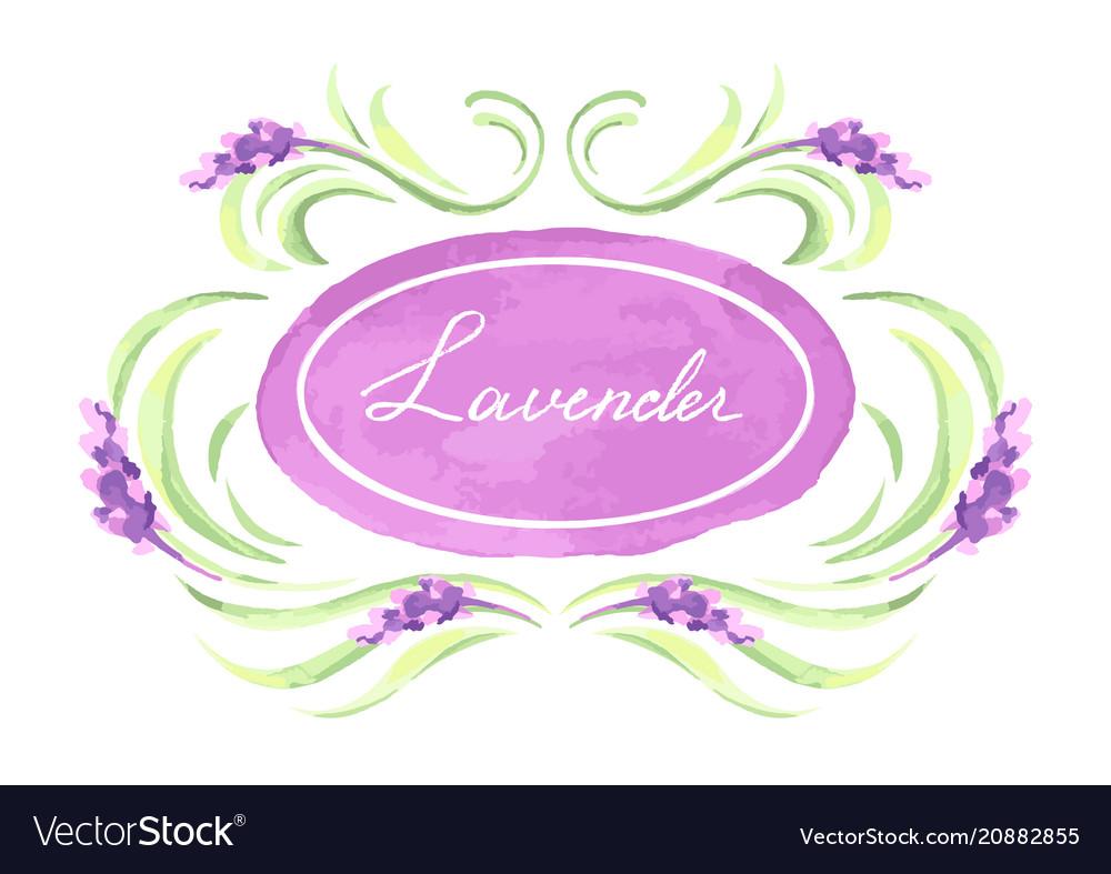 Lavender flowers background design
