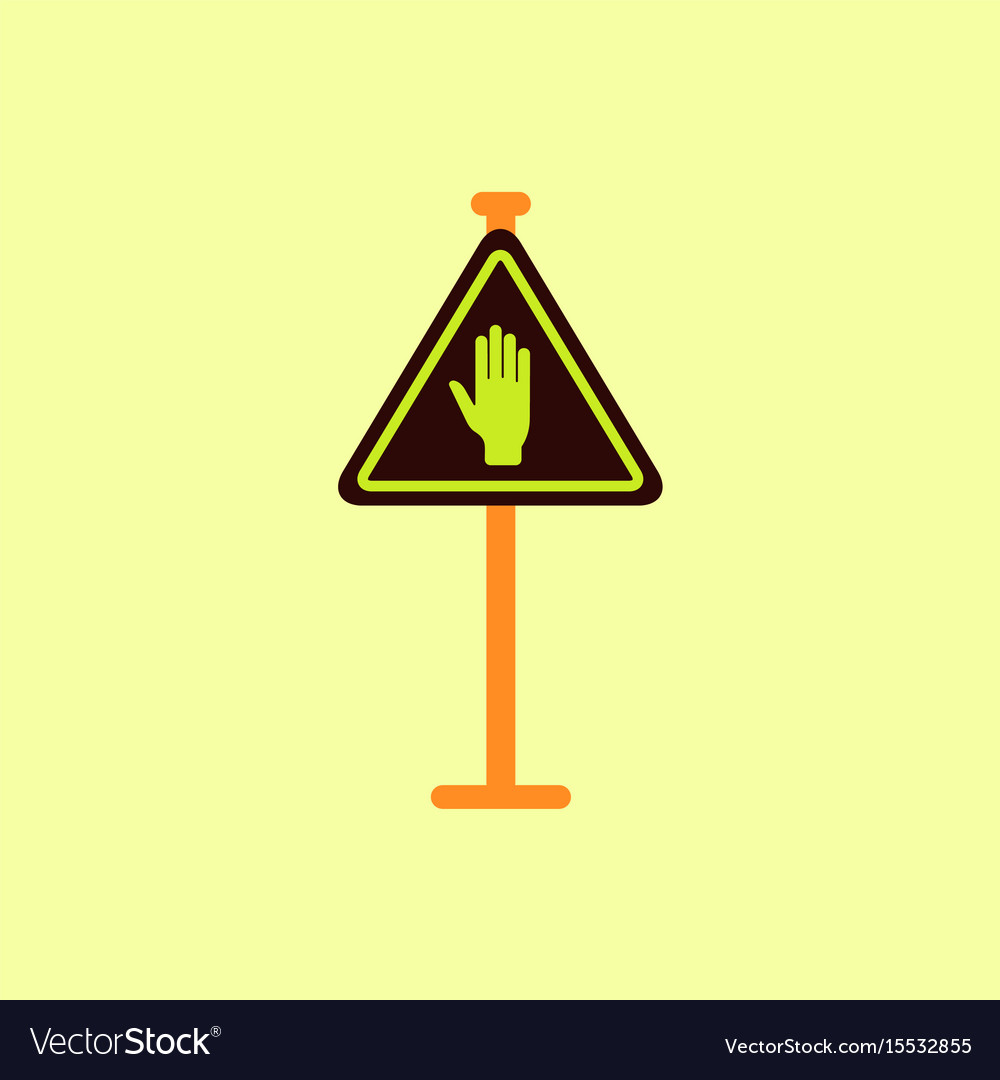 No entry hand sign traffic symbol