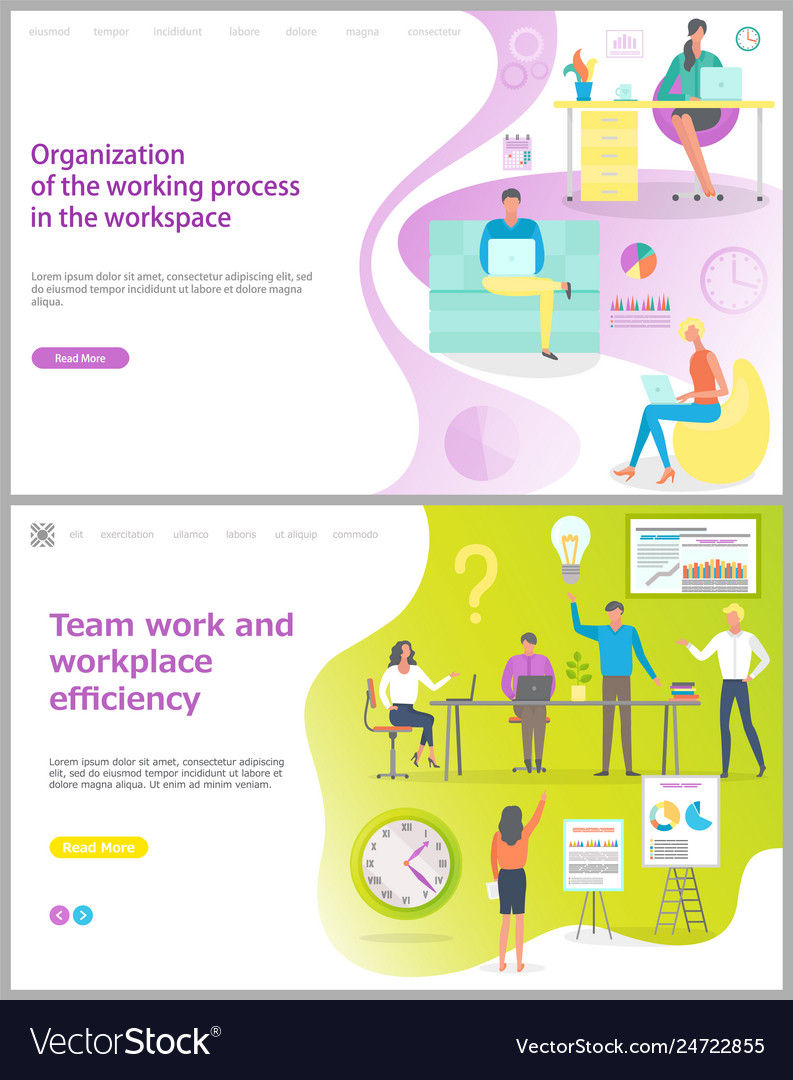 Organization of working process in workplace set