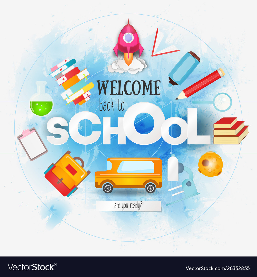 Welcome back to school card