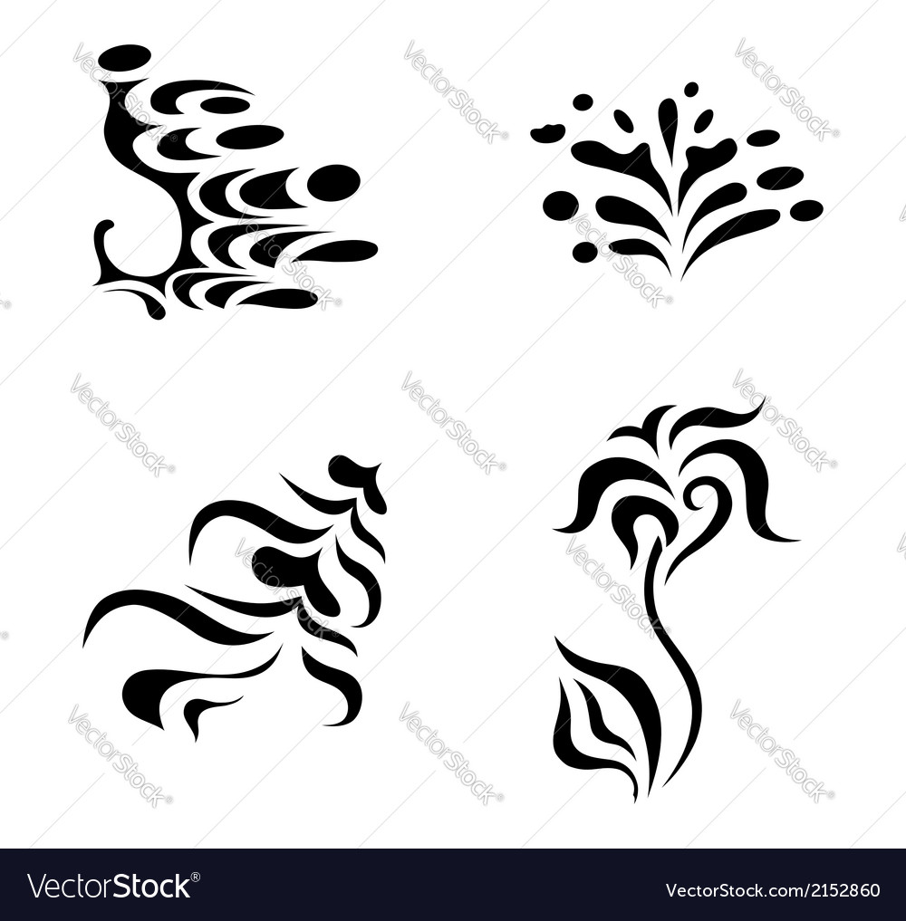 Abstract Design Elements Tattoo Royalty Free Vector Image