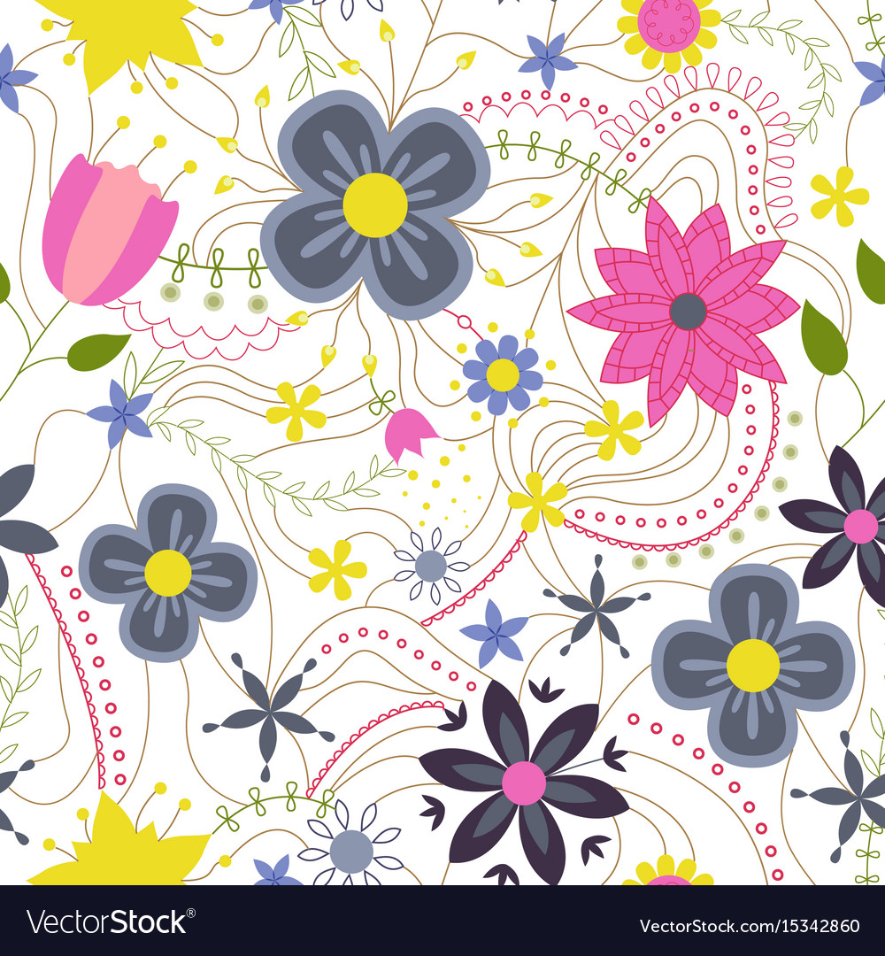 Abstract flower colorful on white vector image