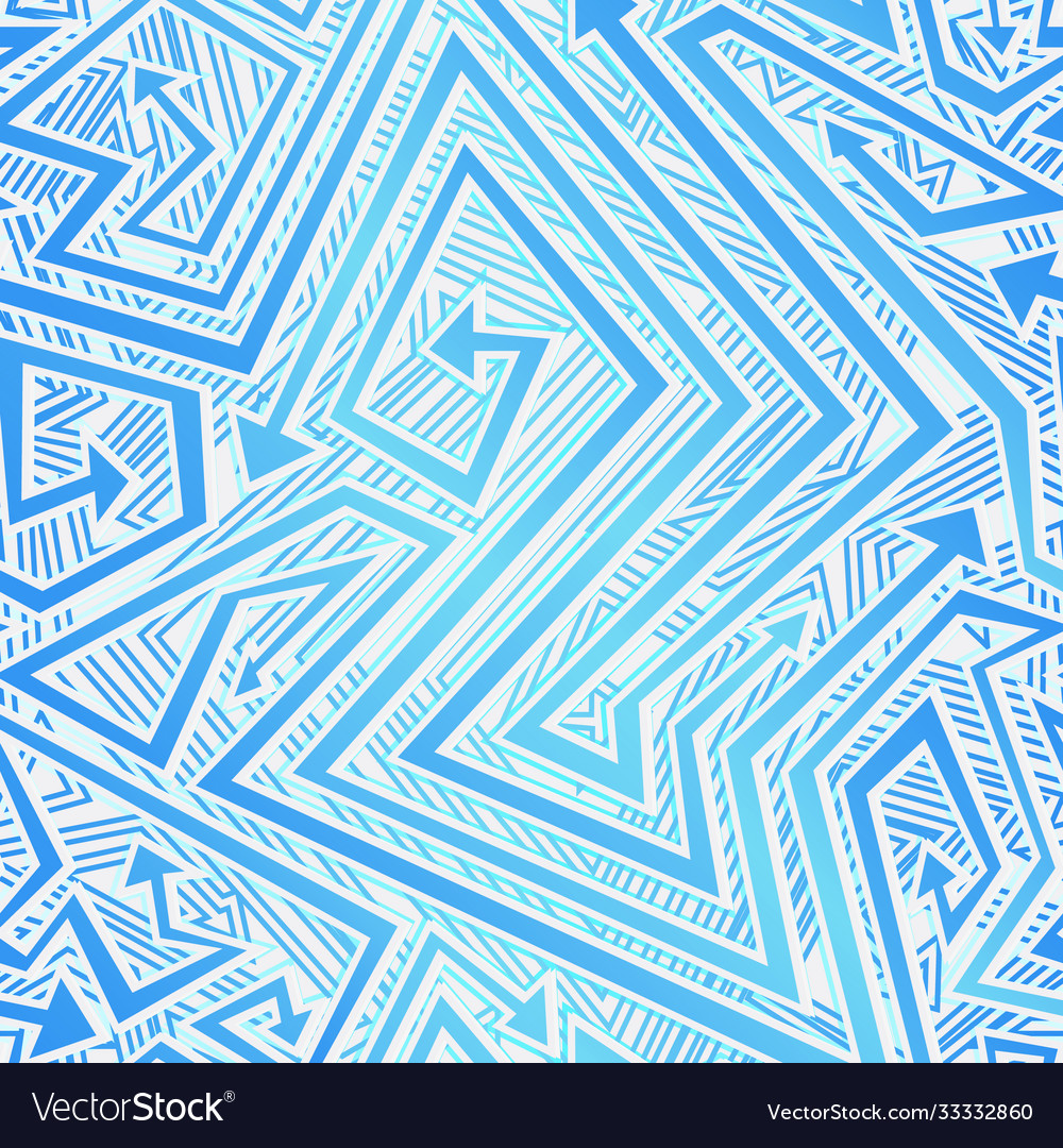 Blue color tribal arrow seamless texture