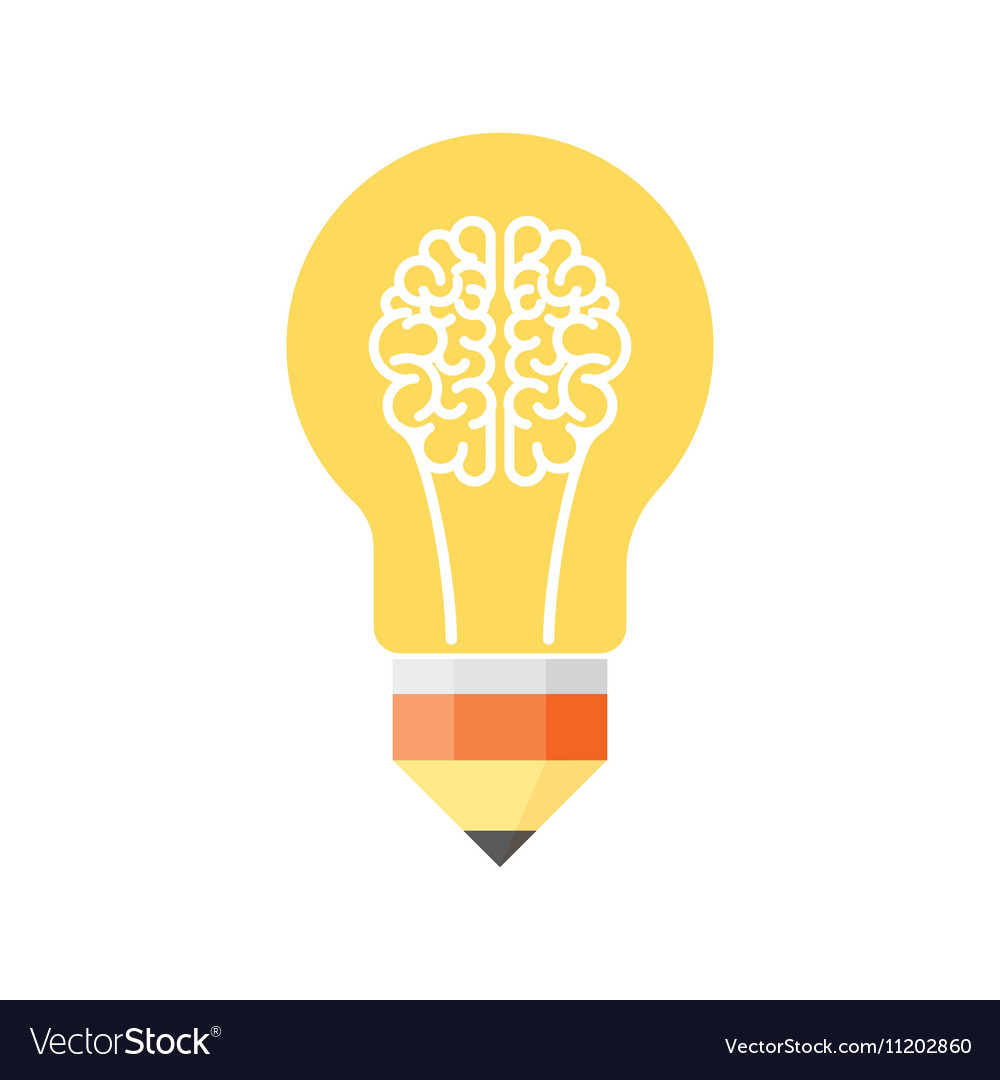 Superior Brain Light Bulb Vector Image Great Pictures