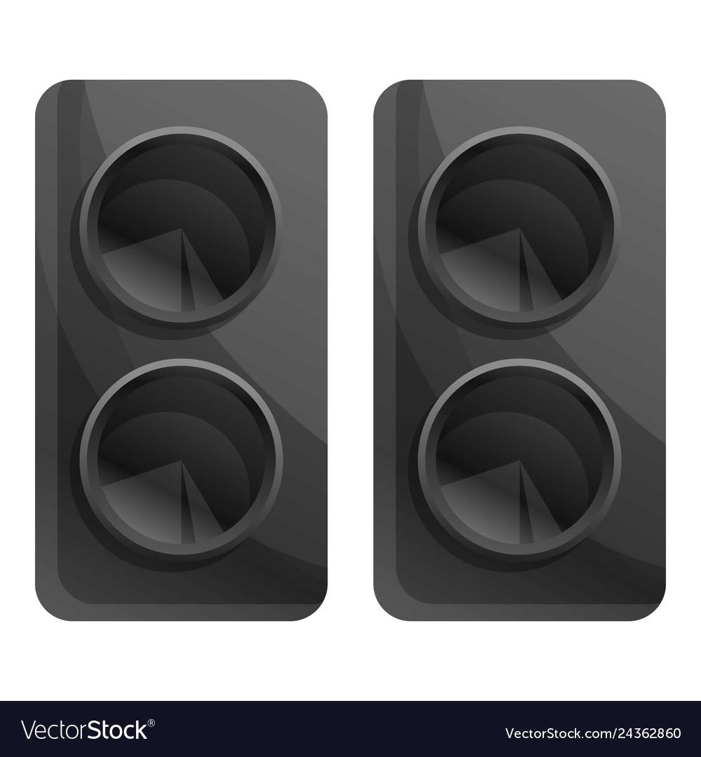 Computer speakers icon cartoon style
