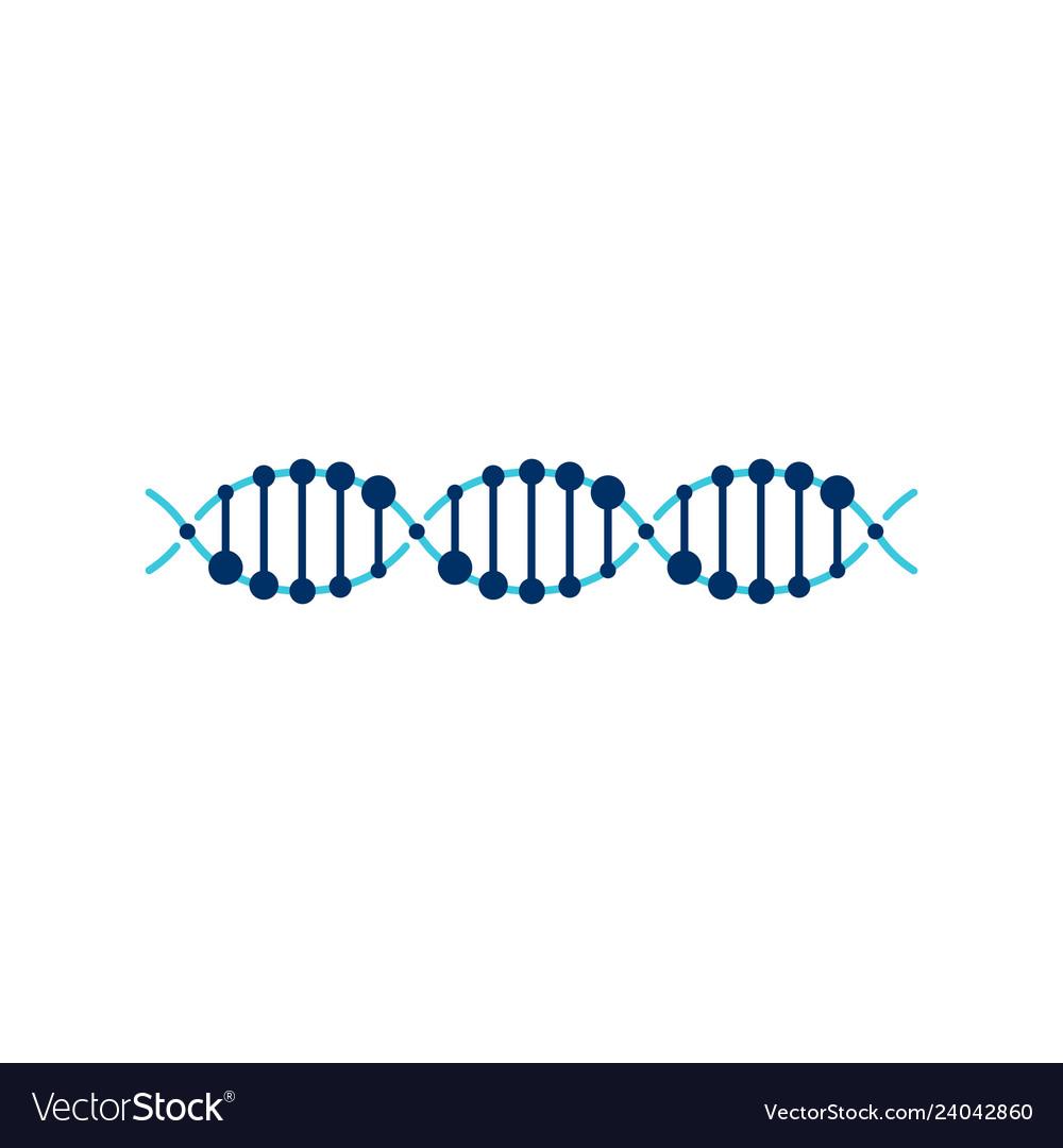 Dna helix strand logo element