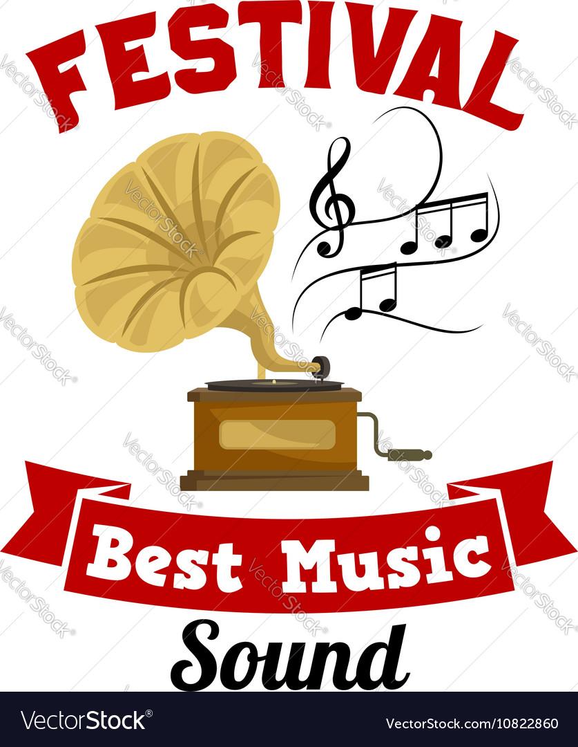 Gramophone Best music sound festival emblem