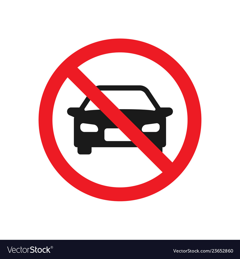 No parking cars sign