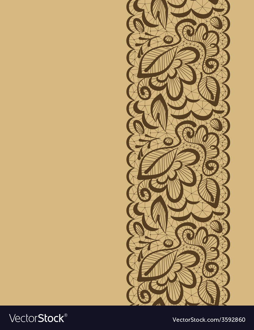 Seamless background Lace flowers and leaves on a