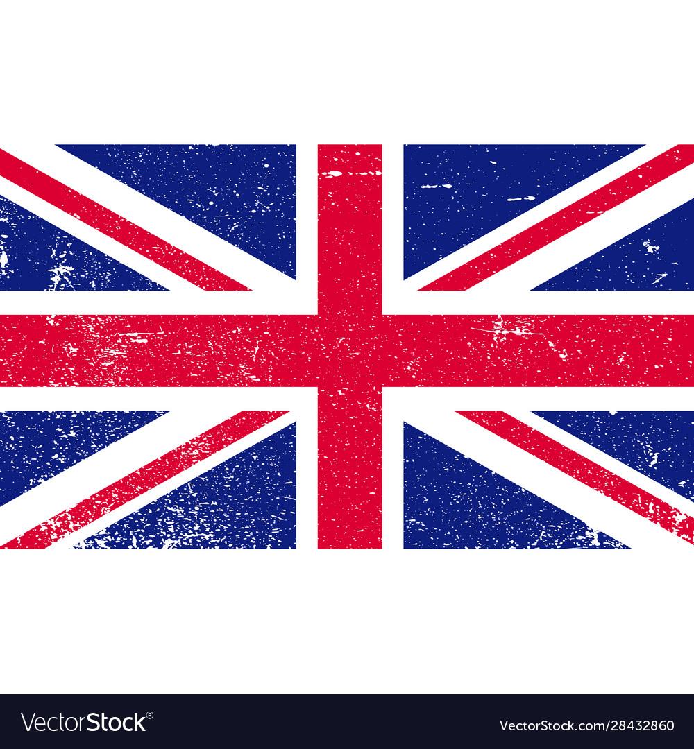 Shabby british flag flag gb grunge style