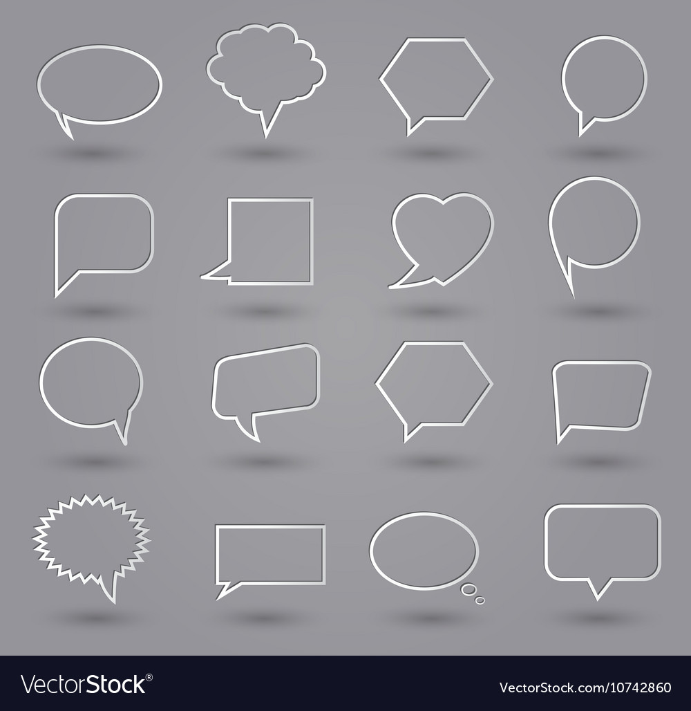 Speech bubbles thin grey