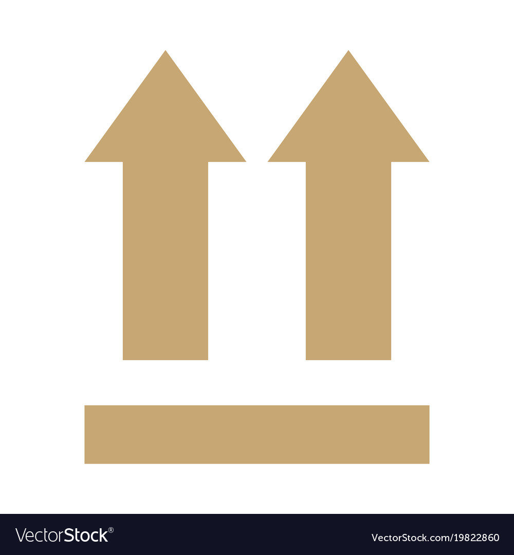 This Side Up Arrows Sign Royalty Free Vector Image