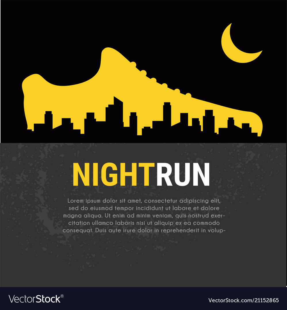 Abstract poster - running sport shoe and
