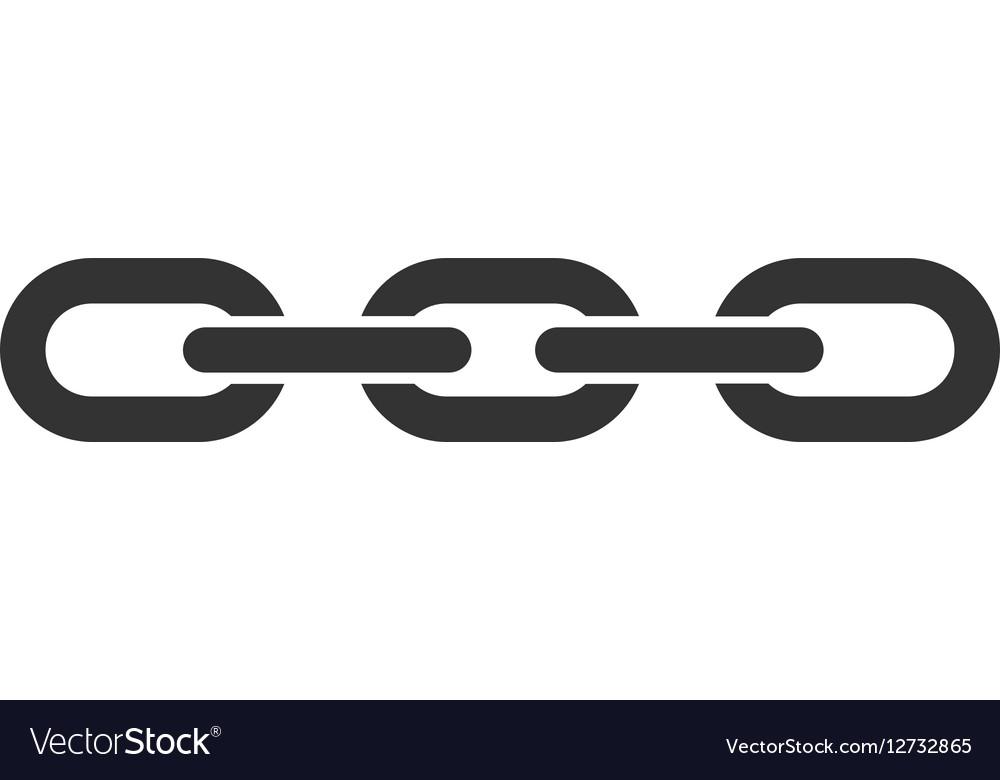chain flat icon royalty free vector image vectorstock rh vectorstock com chain vector illustrator chain vector brush