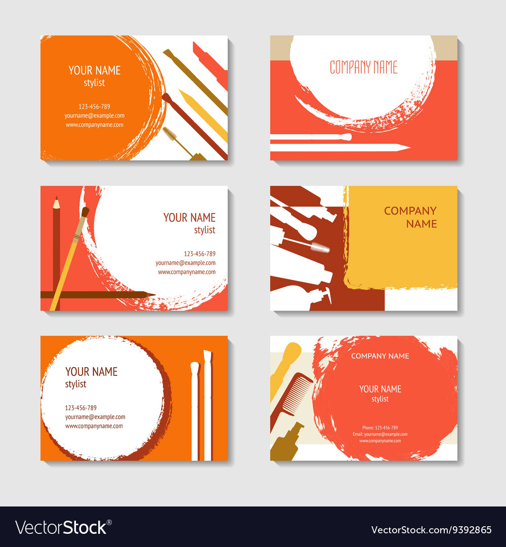 Cosmetic and beauty business cards set royalty free vector cosmetic and beauty business cards set vector image colourmoves