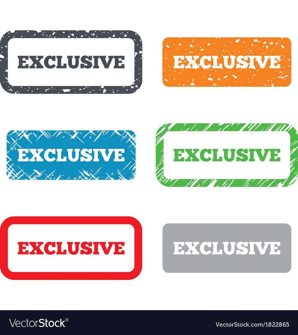 Exclusive sign icon Limited edition symbol