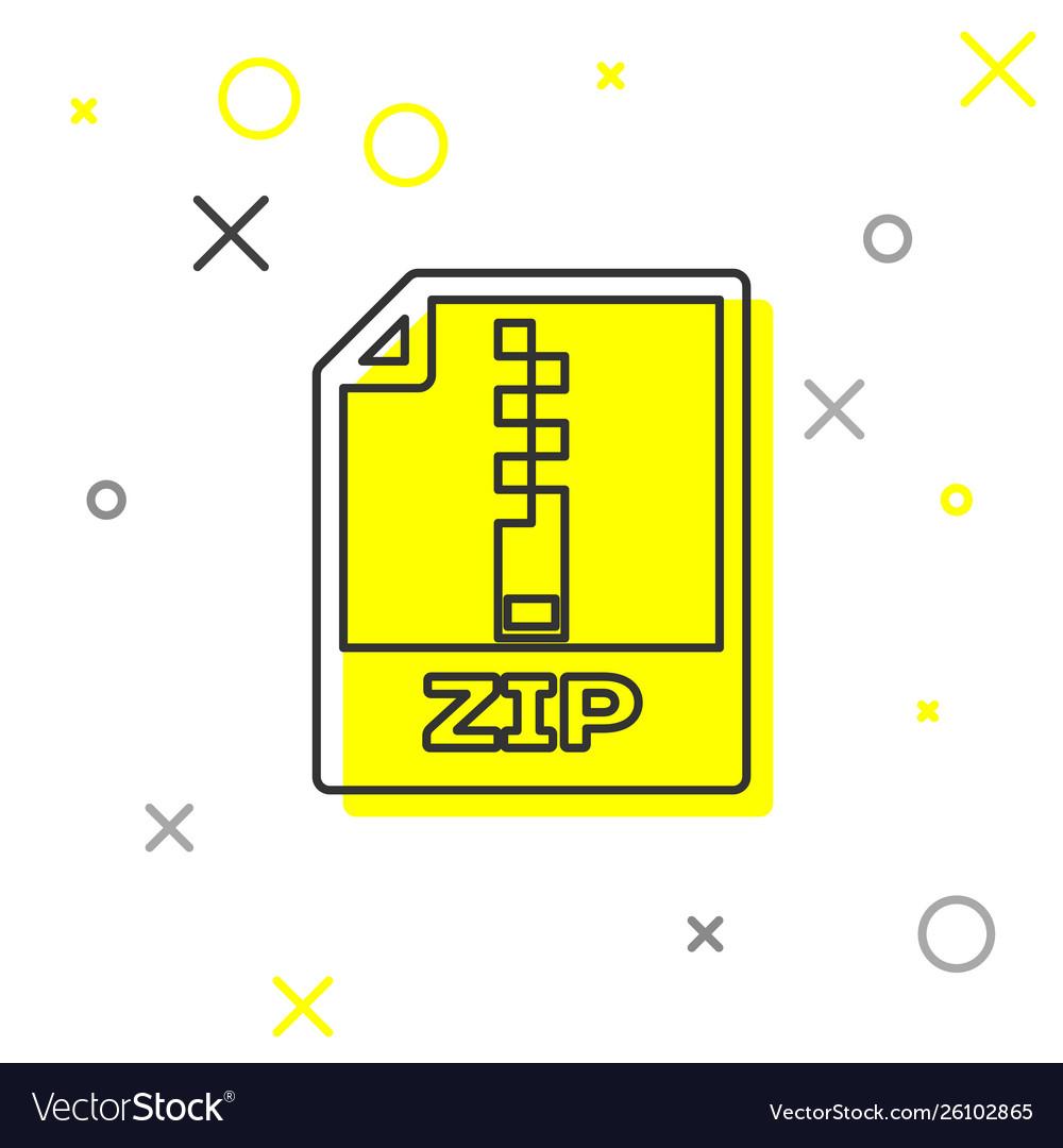 Grey zip file document icon download zip button