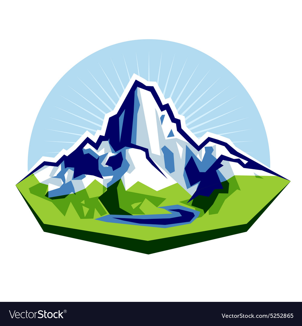 High Peak vector image