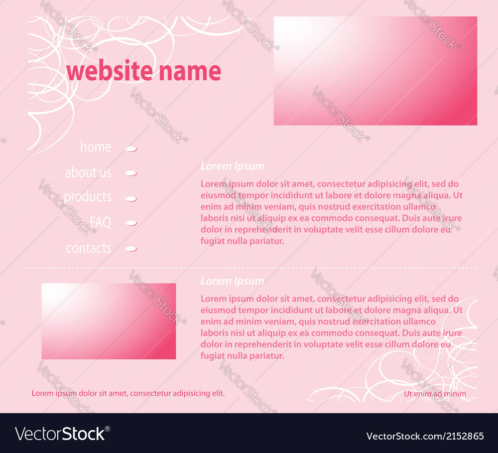 Pink website - template layered