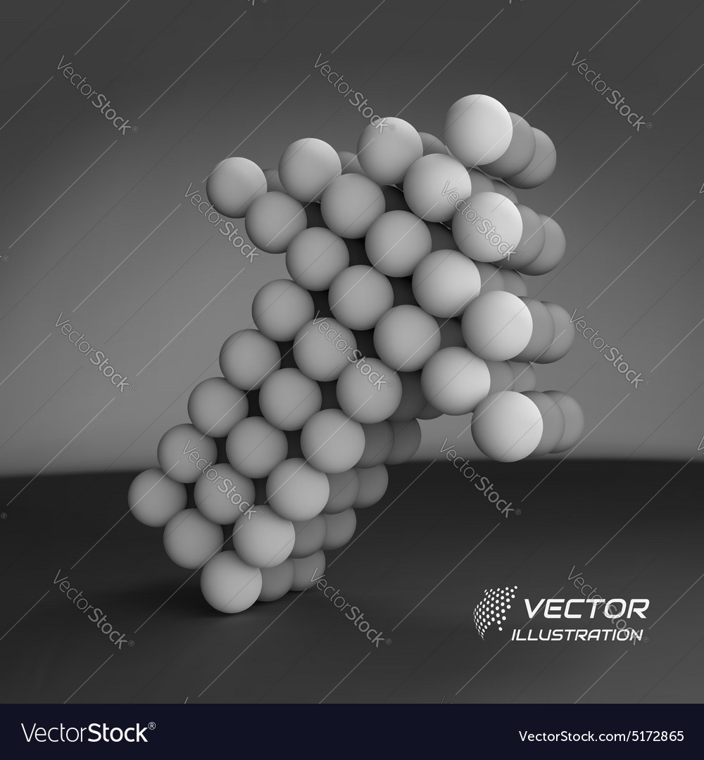 Spheres forming an arrow Business concept