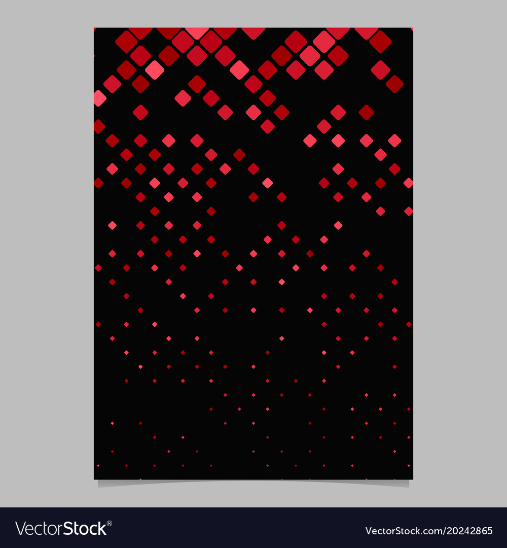 Square pattern brochure design - mosaic vector image