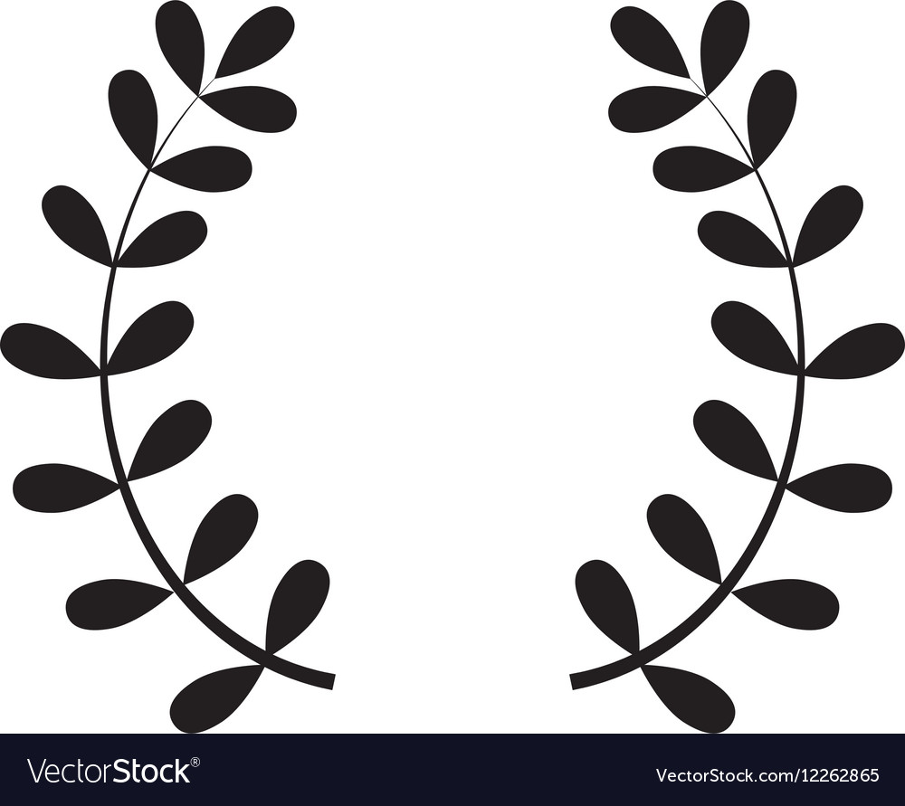 wreath leaves ornament royalty free vector image rh vectorstock com vector leaves png vector leafs