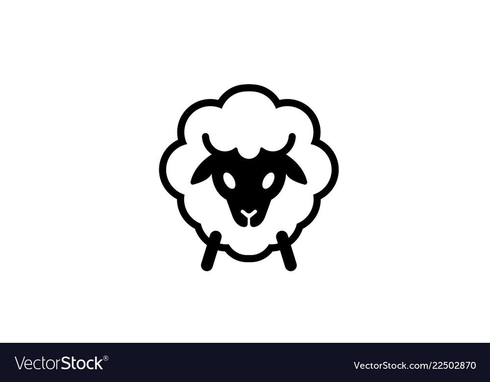 Abstract cartoon sheep logo