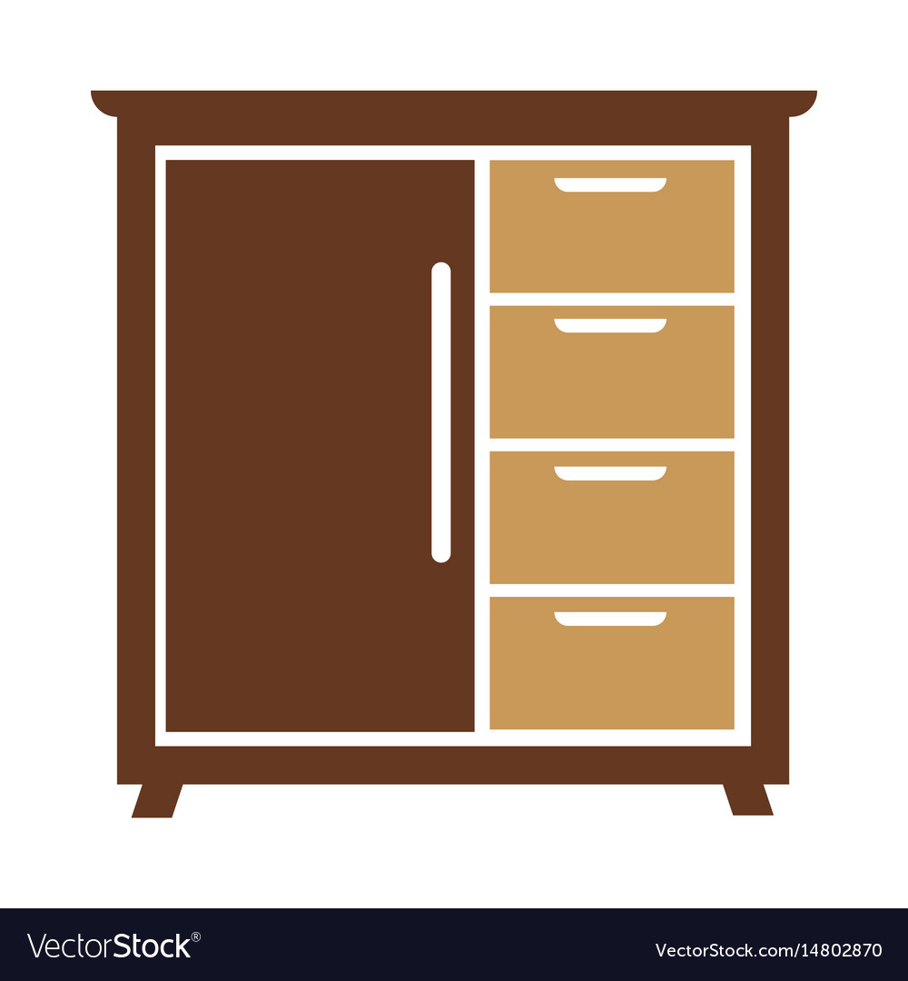 Chest of drawers icon isolated