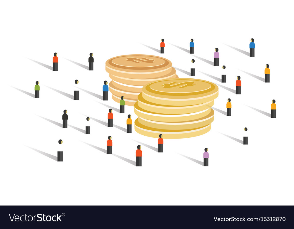 Crowd-funding money financial donation crowd group