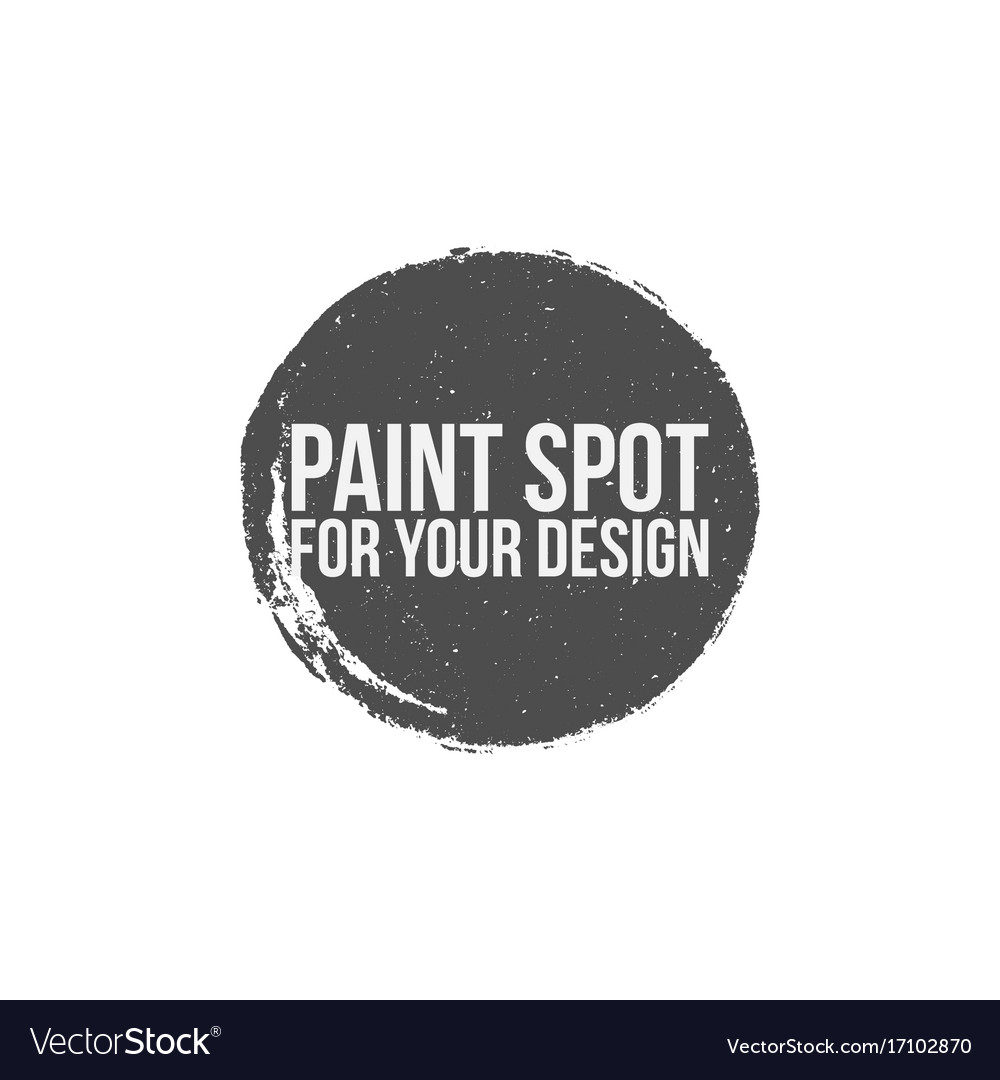 Paint Spot Circle Grunge Banner Royalty Free Vector Image