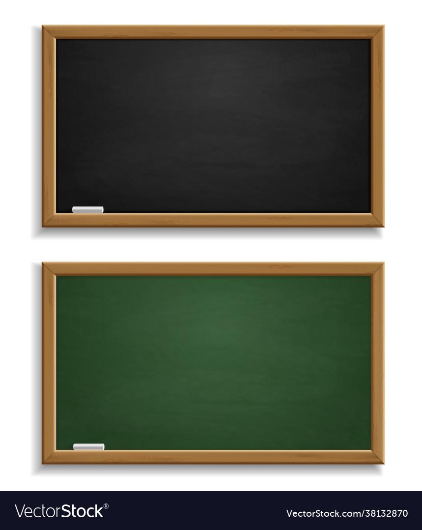 Realistic blackboard green and black chalkboard